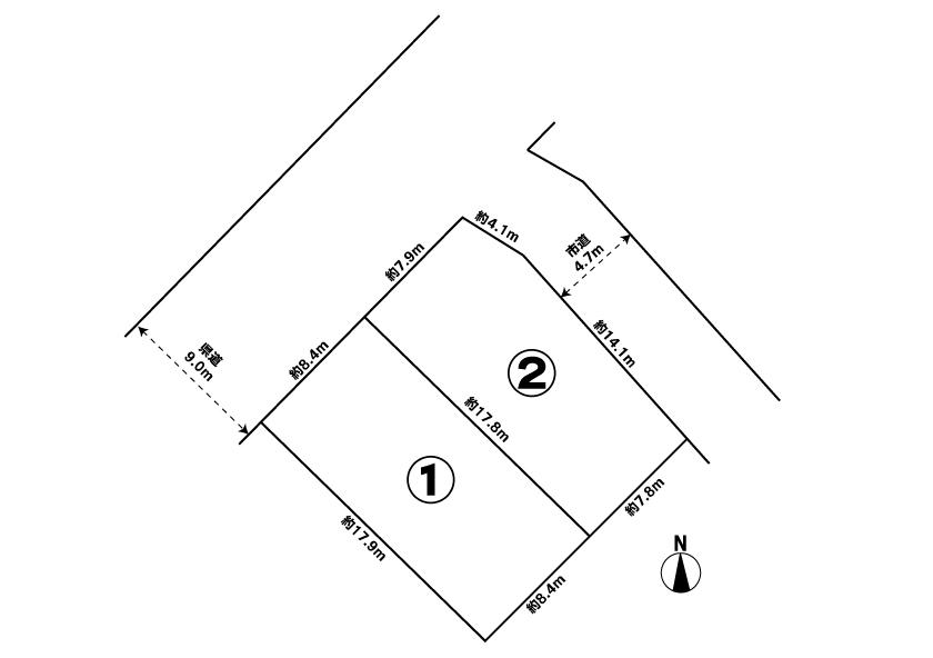 売地の区画割図